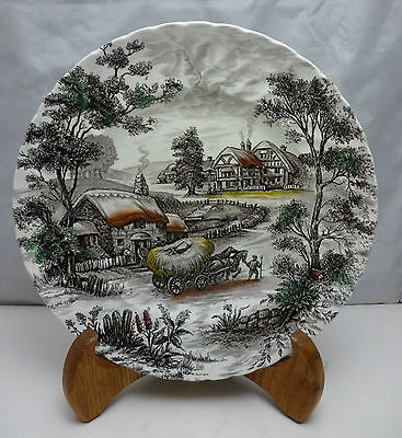Vintage Staffordshire England Yorkshire Ironstone Dinner Plate