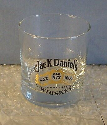 New! Jack Daniel's Tennessee Whiskey Black & Gold Label Rocks Glass