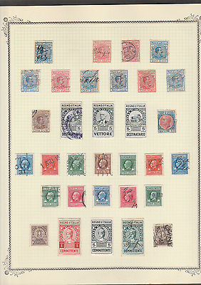 Italy Very Old Revenues Local Issues Cinderellas Mint Used Lot Of 32 Stamps