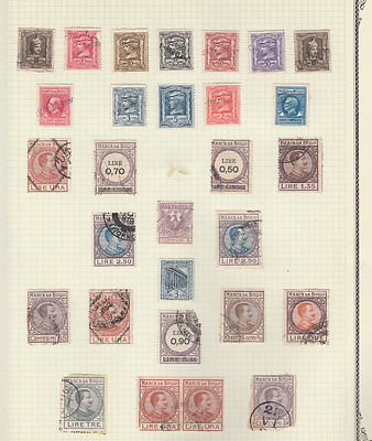Italy Very Old Revenues Local Issues Cinderellas Mint Used Lot Of 29 Stamps