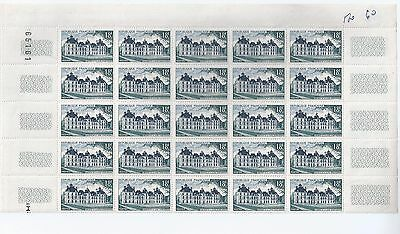 n° 980 1/2  feuille entière neuve 25 timbres ** CHEVERNY  France 1954