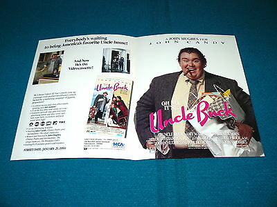 "UNCLE BUCK ""Brochure & Ad Slick"" JOHN CANDY @ Movie #8a"