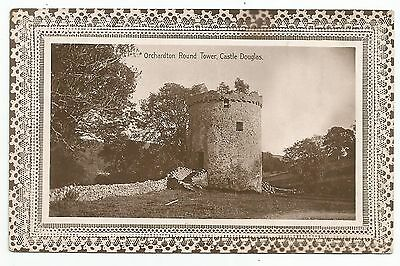 POSTCARD-SCOTLAND-CASTLE DOUGLAS-RP. Orchardton Round Tower.