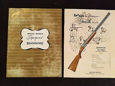 """Browning Superposed Catalog & Browning Price List"" 1960 Illustrated Detailed"