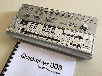 Roland Tb303 Bass Line Synthesiser With Quicksilver Upgrade Vintage Tb 303 Synth