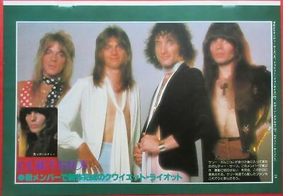 Quiet Riot Randy Rhoads Kevin Dubrow 1979 Clipping Japan Magazine G2 D7
