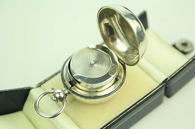 Antique Edwardian Solid Silver Sovereign Case Fob Birmingham JW Kirwan C1907