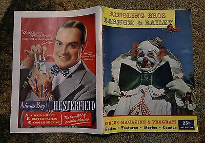 1947 Ringling Brothers Barnum and Bailey Circus Program Magazine Scary CLOWNS!