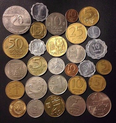 Old Israel Coin Lot - 29 Great Coins - 1954-Present - Lot #J20