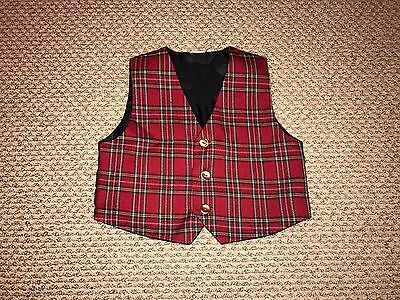 Childrens Place Baby Boy 24 Month  Christmas Holiday Vest Red Black Gold GUC
