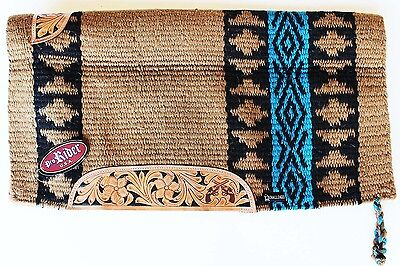 34x36 Horse Wool Western Show Trail SADDLE BLANKET Rodeo Pad Rug Brown 36312G
