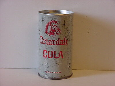 Vintage Briardale Cola Straight Steel Pull Tab Top Opened Soda Can 7-Up Bottling