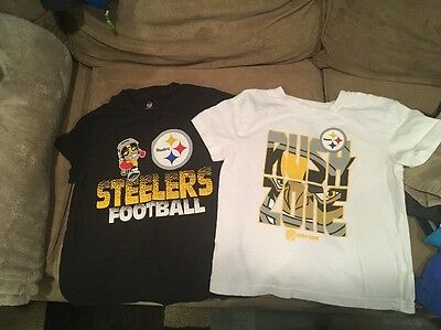NFL Team Apparel Steelers Tshirts Toddler Size 5
