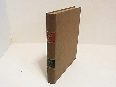 # Vintage Chicago Classified Telephone Directory 1935 Red Book #