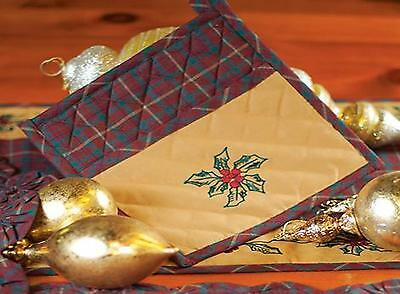 Country/Primitive Tradition Christmas Pot Holder w/Pocket