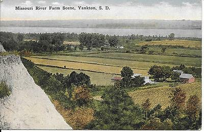 Missouri River Farm Scene Yankton SD nice postcard not postally used