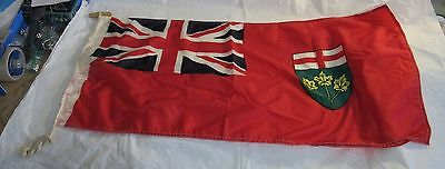 1967 Scyco Vintage Ontario Flag Made in Canada Red Ensign Coat of Arms Old RARE