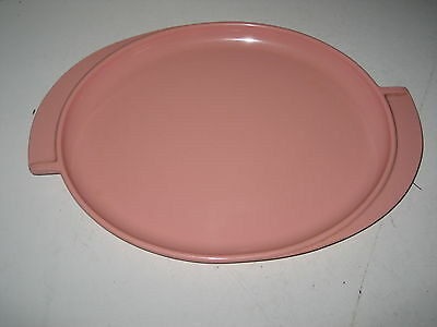 Vintage Boonton Dusty Rose/Pink Winged Serving Platter Tray Mid Century Modern