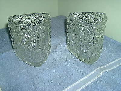 Pair of Avon glass candle holders **