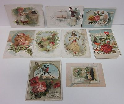Lot (9) 1800's Advertising Trade Cards Lion Coffee Woolson Toledo OH cv9822