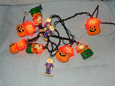 Looney Tunes Set of 10 Halloween Party Lights Taz Bugs Bunny Gossamer -  Works