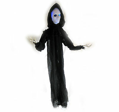 Scary Slender Man Ghost Color Lighted Hanging Halloween Haunted House Prop 56""