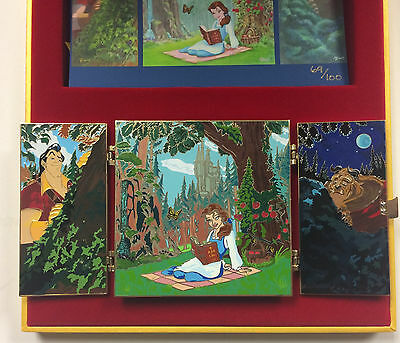 Disney Hong Kong Acme HotArt Beauty & the Beast Jumbo Artist Pin & Litho LE 100