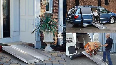 Portable Wheelchair Ramp Scooter Access Mobility Folding Aluminium 180cm 6ft New