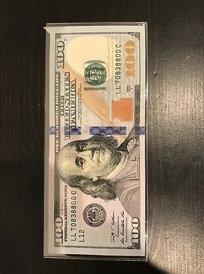 2009 $100 Dollar Error Note Extra Paper Mis-cut Almost Uncirculated.