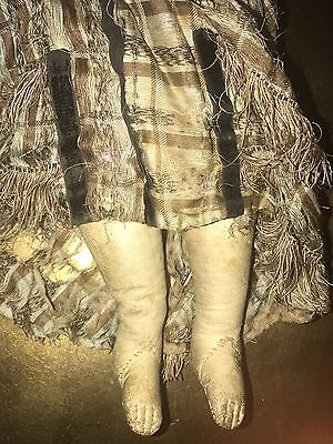 Antique Doll French Fashion Kid Leather Body French Bisque Made In France Label