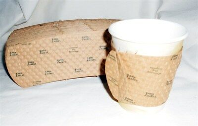 Java Jacket Hot Cup Sleeves 8 oz Coffee 100 Ct Eco Friendly