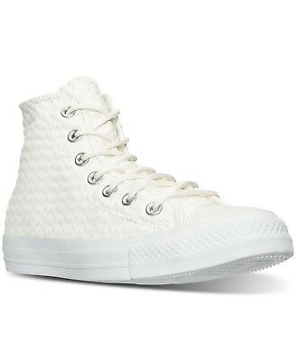 6fd28c18a63968 Converse Women s Chuck Taylor Hi Craft Leather Casual Sneakers White 153563C