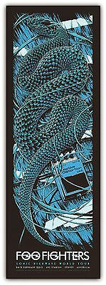 Foo Fighters - Ken Taylor - 2 Posters - Matched Numbers -  2015 - Australia