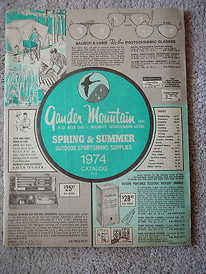 Gander Mountain Sportsmans Supplies - Vintage 1974 Spring & Summer Catalog - Vg