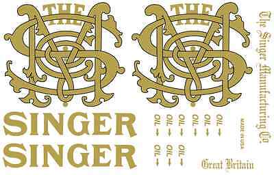 Singer Model 29 Class Sewing Machine Restoration Decals 40295