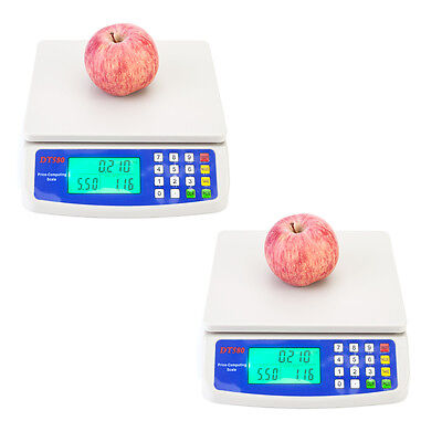 2* Electronic Digital Price Scale Produce Weighing Balance Retail Scales 30KG US