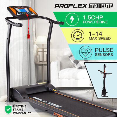 New PROFLEX Electric Treadmill w/ Fitness Tracker Home Gym Exercise Equipment