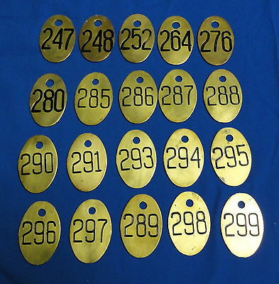 20 Vintage Antique Brass Cow Tags