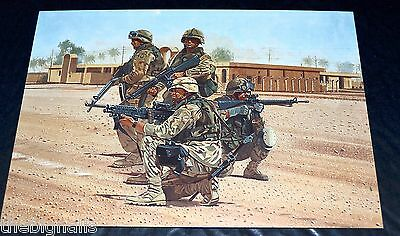 Military Uniforms US Infantry Iraq Large Postcard
