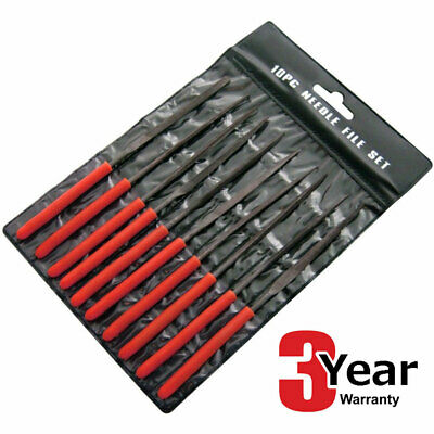 10Pc Amtech Mini Needle File Set Precision Files + Wallet With 3 Year Warranty