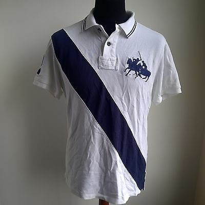 White Custom Fit Polo Shirt Vented Armpits #2 Ralph Lauren Jersey Size Adult L