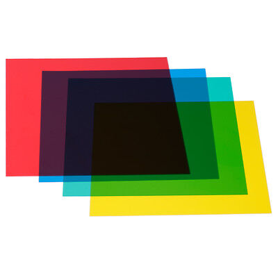 Neewer 4-Color Red Yellow Green Blue Color Correction Gels Sheet Set Gel Filter