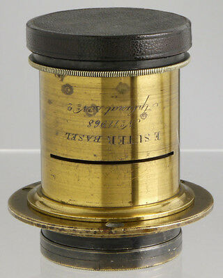 antique Emil Suter Basel Switzerland brass lens ___ for wood Plate Field cameras