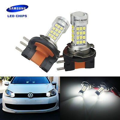 2pcs SAMSUNG 54 SMD LED H15 Bulb Car Front Headlight Daytime Light White 6000K