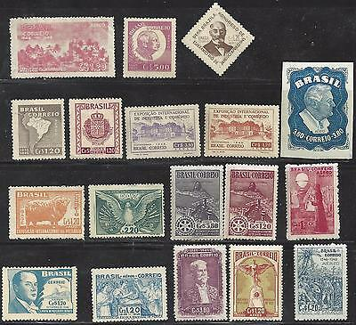 18 Brazil stamps Mint condition from the mid to late 1940's MNH & Lightly hinged