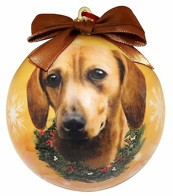 E&S Pets Dachshund, Red Christmas Ornament Shatterproof Ball New in Packaging