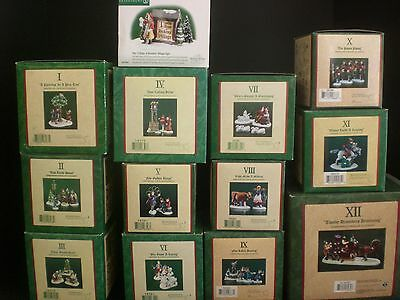 Dept 56 12 Days of Christmas Dickens Village 13 Piece Set: 12 Days + Sign