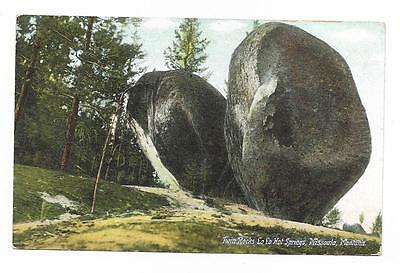 Vintage Montana Linen Postcard Twin Rocks Lo Lo Hot Springs Missoula LoLo
