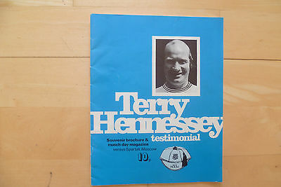 Derby County v Spartak Moscow 1974 Terry Hennessey Testimonial
