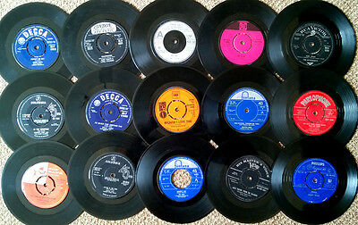 30 x 45s - RARE COLLECTION - JOB LOT - MAINLY 60's - POP BEAT ROCK N ROLL - SOUL